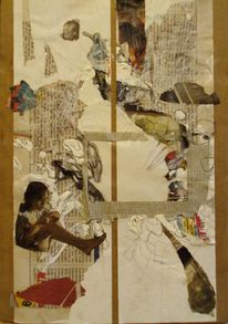 Wundersam, Collage, Malerei,