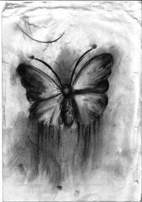 Traum, Alptraum, Zeichnung, Kohlezeichnung