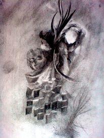 Kohlezeichnung, Zeichnung, Malerei, Tor