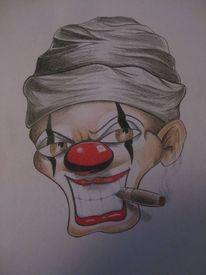 Clown, Gesicht, Tattoo, Zeichnungen