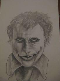 Menschen, Jocker, Skizze, Portrait