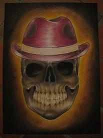 Schädel, Tattoo, Menschen, Hut