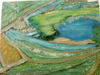 Landschaft, Ölmalerei, Farben, Baum