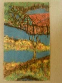 Baum, Haus, Blumen, Wald