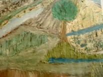 Farben, Stein, Acrylmalerei, Baum