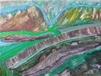 Farben, Ölmalerei, Landschaft, Malerei