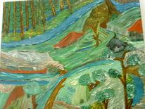 Farben, Baum, Ölmalerei, Malerei