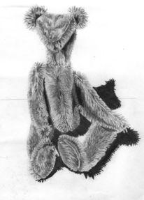 Bleistiftzeichnung, Teddy, Zeichnungen,