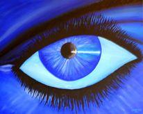Zoom, Augen, Fänger, Malerei