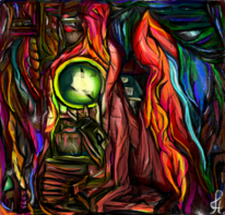 Psychedelisch, Surreal, Digitale kunst