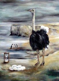 Strauß, Malerei