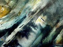 Aquarellmalerei, Aquarellmix, Moderne kunst, Abstrakte malerei