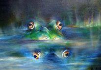 Tiermalerei, Frosch, Malerei, Abstrakt