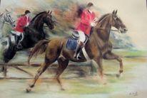 Pferde, Pferdemalerei, Fuchsjagd, Malerei