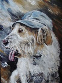 Hundemalerei, Tierportrait, Hundeportrait, Tiermalerei