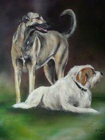 Hundemalerei, Hundeportraits, Tiermalerei, Malerei