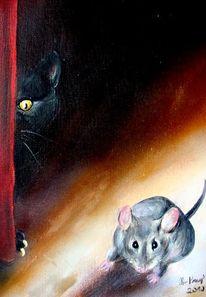 Katze, Tierportrait, Tiermalerei, Malerei