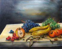 Obst, Stillleben, Acrylmalerei, Malerei