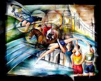 Olympia 2012, Olympische spiele london, Olympische spiele 2012, Malerei