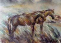 Pferde, Pferdezeichnung, Pferdemalerei, Malerei