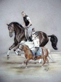 Pferdemalerei, Pferde, Pferdeportrait, Malerei