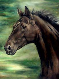 Pferde, Pferdeportrait, Pferdemalerei, Malerei