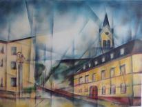 Helmbrechts, Stadtansicht, Malerei