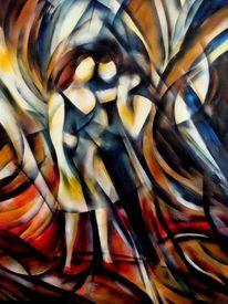 Menschen, Malerei, Tänzer