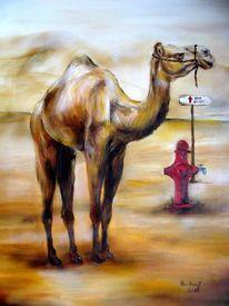 Dromedar, Kamel, Tierkarikatur, Malerei