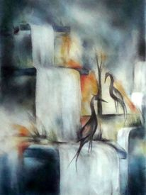 Wasser, Malerei, Wasserfall,