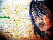 Farben, Gesicht, Malerei, Portrait