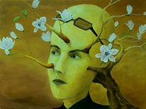 Gemälde, Portrait, Ölmalerei, Blüte