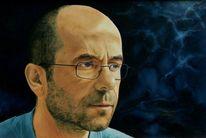 Kopf, Portrait, Blick, Ölmalerei