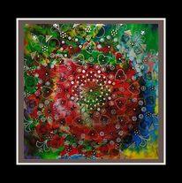Größe, Farbe, Mandala, Malerei