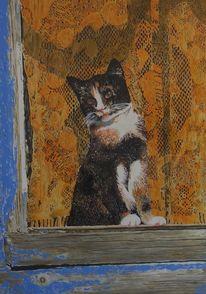 Kitschekatze, Katze, Zero points, Malerei