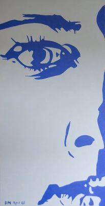 Dame, Blau, Weiblich, Gesicht