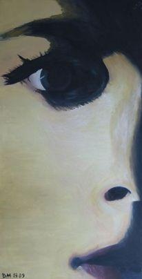 Weiblich, Gesicht, Abstrakt, Ölmalerei