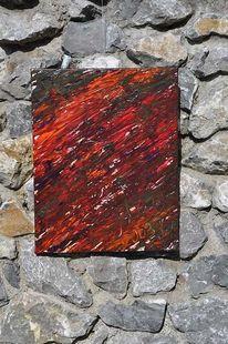 Malerei, Abstrakt, Orange