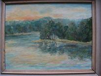 Schweden landschaft abendstimmung, Malerei, Landschaft