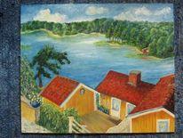 Schweden hölö innenhof, Malerei