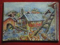 Schweden skären aquarell, Malerei, Wasser