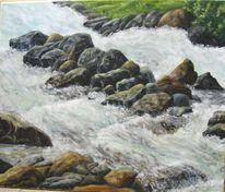 Stein, Berge, Bergbach, Wasser