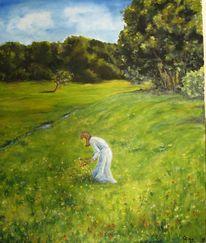 Waldwiese thoma blumen, Malerei, 2011
