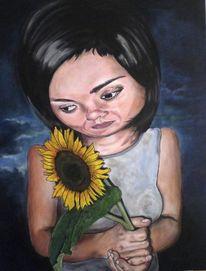 Portrait, Sonnenblumen, Malerei