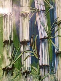 Bambus, Wachsmalerei, Malkarten, Natur