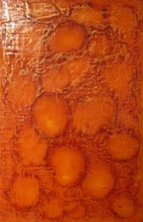 Orange, Retro, Abstrakt, Rot