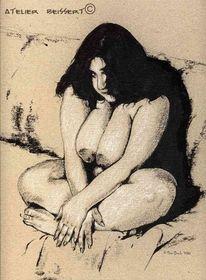 Mollig, Rubens, Curvy, Sitzen