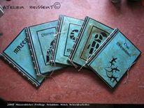 Frottage, Handwerk, Schablone, Buch