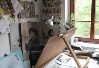 Atelier, Zeichnung, Küche, Malen