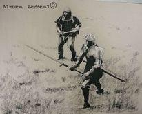 Schwert, Ritter, Reenactment, Kirschfest